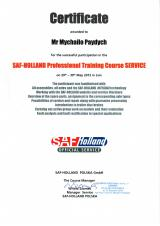 Сертификат SAF-Holland Professional Training Course Service